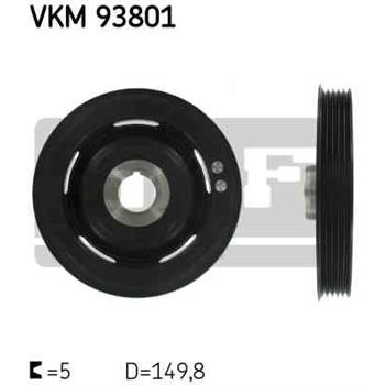 1 Polea Damper Skf Vkm 93801