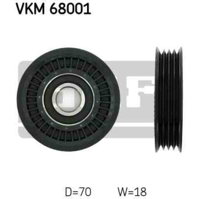 Polea Correa Multi-v Skf Vkm 68001