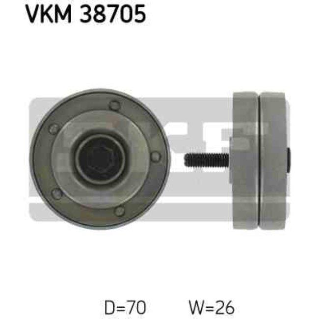 Polea Correa Multi-v Skf Vkm 38705