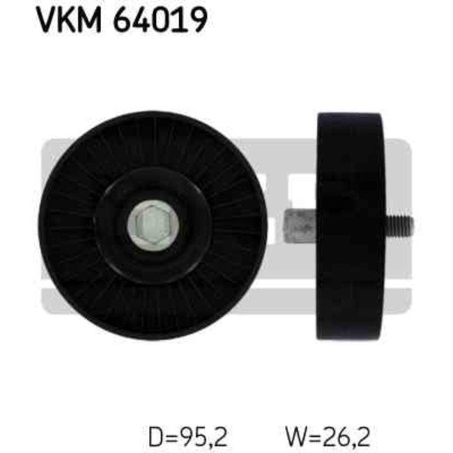 Polea Correa Multi-v Skf Vkm 64019